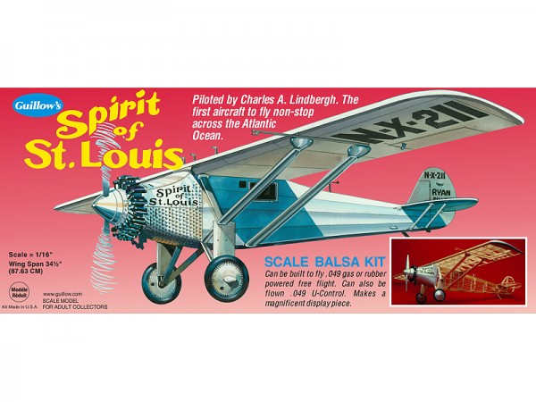 Spirit of St. Louis Spannweite ca 876 mm
