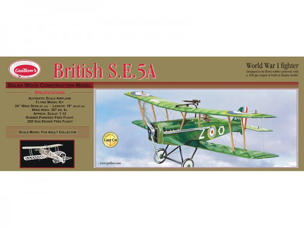 British S.E. 5A 610 mm Spwt. lasergeschnitten