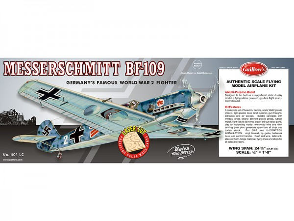Messerschmitt BF-109 Spannweite ca 620 mm lasergeschnitten