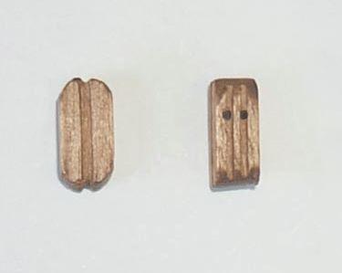 Block doppelt 5 mm Nussbaum, 10 Stk.